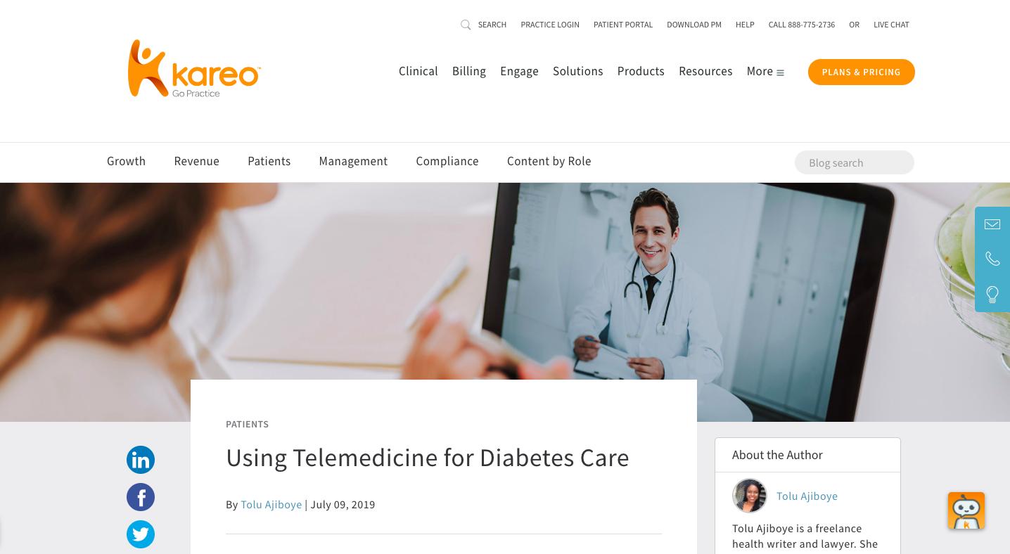 Using Telemedicine for Diabetes Care